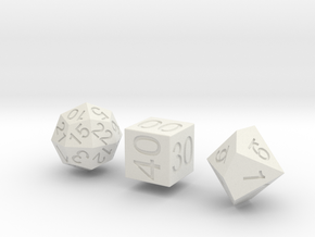 Time Dice in White Strong & Flexible