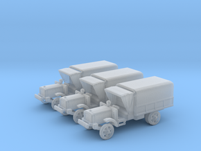 6mm WW1 light trucks (3) With tent in Frosted Ultra Detail
