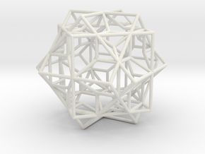 larger 3 cubes escher in White Strong & Flexible