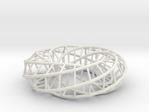 Moebius hexagon | Napkin Ring in White Strong & Flexible