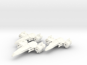 EU Corvan T-4 wing in White Strong & Flexible Polished