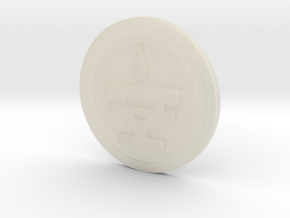 Blood Cup Icon Seal 22mm Diameter in White Acrylic