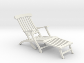 1:24 Titanic Deck Chair in White Strong & Flexible