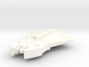 K'bauzan Warship in White Strong & Flexible Polished