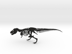 Dinosaur Tyrannosaurus rex Skeleton in Black Strong & Flexible