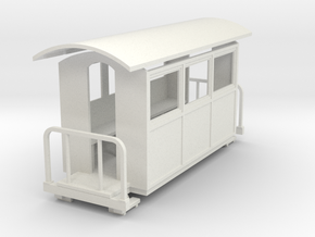 009 small closed coach twin balcony in White Strong & Flexible
