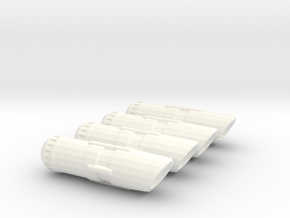 Set of 4 Nacelles in White Strong & Flexible Polished