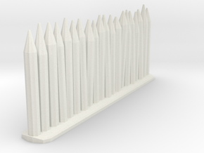 Wooden stakes in White Strong & Flexible