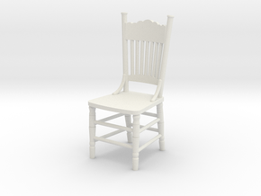 1:24 Kitchen Chair in White Strong & Flexible