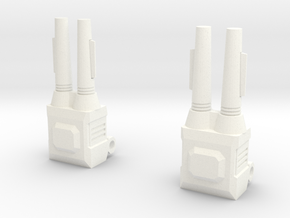 Sunlink - Stronghold Shoulder Cannon x2 TFCon in White Strong & Flexible Polished
