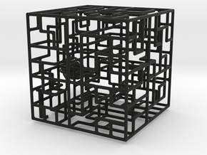 Escher�s Playground 3D Maze Cube in Black Strong & Flexible