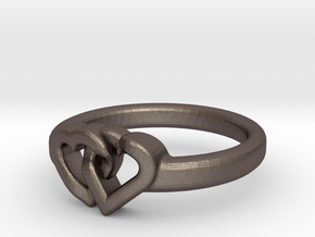Entangled Love Small Sz18 in Stainless Steel