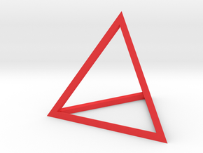 Tetrahedron in Red Strong & Flexible Polished