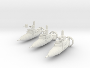 Tumelo Class Torpedo Frigate in White Strong & Flexible
