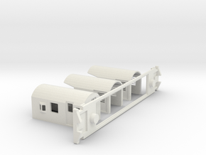 FM Guards Van, New Zealand, (HO Scale, 1:87) in White Strong & Flexible