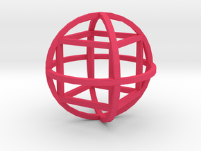 Cube inside sphera in Pink Strong & Flexible Polished