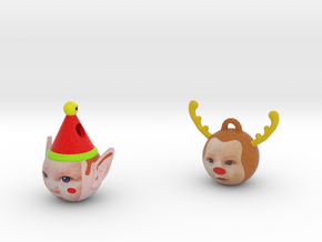 elf & Reindeer in Full Color Sandstone