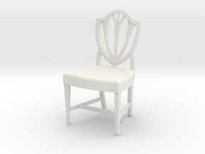 1:24 Shield Chair (Not Full Size) in White Strong & Flexible