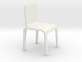 1:24 Bent Chair in White Strong & Flexible