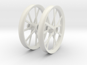 2009 18 IN RADIR WHEEL PAIR 1-8scale in White Strong & Flexible