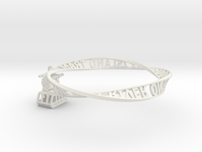 Roosevelt Island Moebius Bracelet with Tram Charm in White Strong & Flexible