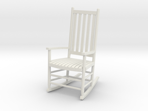 1:24 Rocking Chair (Not Full Size) in White Strong & Flexible