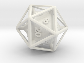 D20 Cased in White Strong & Flexible
