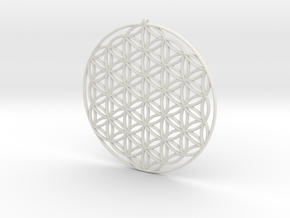 flower of life 1 mm in White Strong & Flexible