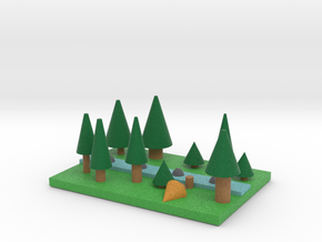 Pine Forest with river in Full Color Sandstone