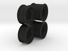 dNano Countech true to scale wheels in Black Acrylic