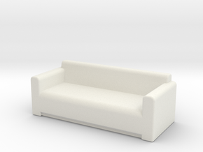 Comfy Sofa OO Scale in White Strong & Flexible