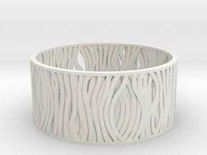 Filar bracelet 62mm in White Strong & Flexible