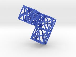 Twirl cubed puzzle part #2 in Blue Strong & Flexible Polished