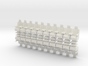 15mm Standard Seats With Arms x20 in White Strong & Flexible