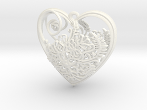 Elven Heart in White Strong & Flexible Polished