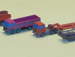 Construction Site Trucks 2 Z-Scale 1/220 in Frosted Ultra Detail