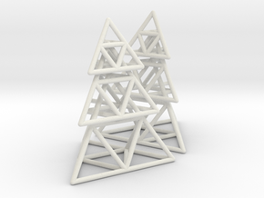 triangle pyramid earring stack in White Strong & Flexible