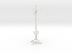 1:6 Coat Rack in White Strong & Flexible