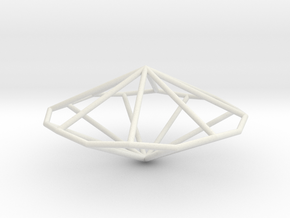 OctagonalTrapezohedron 70mm in White Strong & Flexible