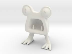 Horrible Monster Figurine in White Strong & Flexible