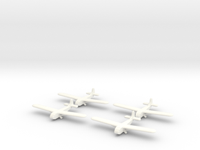 Waco Glider- 1/600 -(x4) in White Strong & Flexible Polished