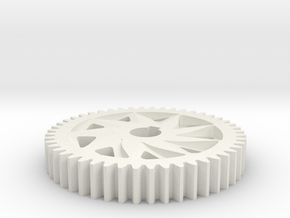 PROPER SPUR GEAR 48T 20PA 32P in White Strong & Flexible