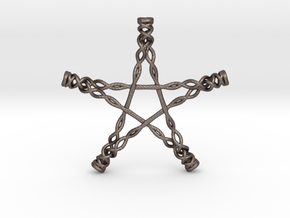 Twisted Pentagram in Stainless Steel