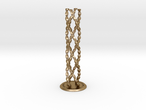 ENDLESS COLUMN 2012 - HOMAGE TO BRANCUSI (v.#4)  in Polished Gold Steel