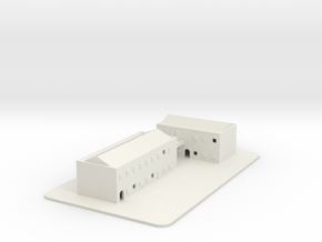 1/700 Town Buildings And Road in White Strong & Flexible