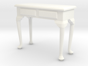 1:24 Queen Anne Console Table in White Strong & Flexible Polished