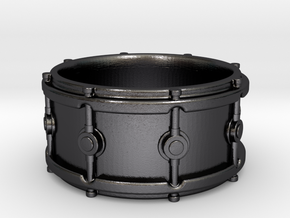 Snare Drum Ring in Polished Grey Steel