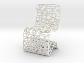 Cell Chair in White Strong & Flexible