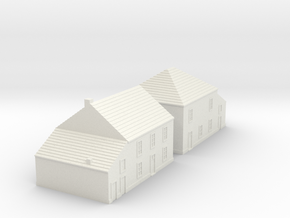 1/350 Village Houses 5 in White Strong & Flexible