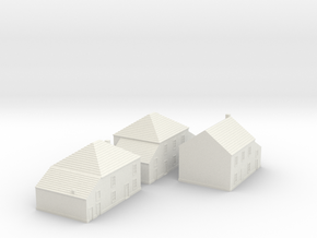 1/350 Village Houses 3 in White Strong & Flexible